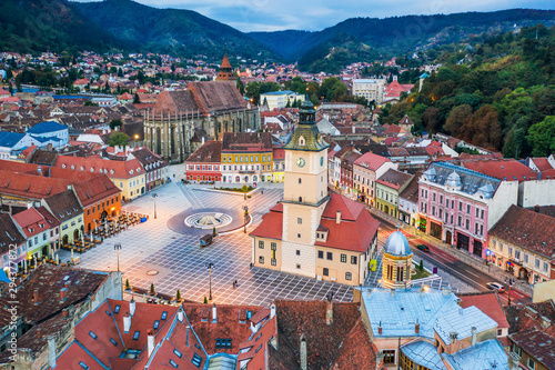 Brasov,  Romania. Old town square. Fototapete