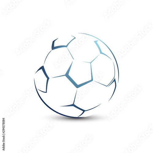 Photo Stylized football ball on a white background sport vector illustration