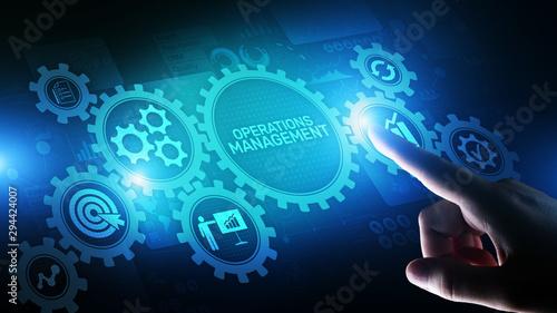 Obraz na płótnie Operation management Business process control optimisation industrial technology concept