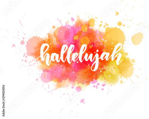 Fototapeta Hallelujah lettering background