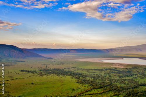 Tela sunset over ngorongoro crater