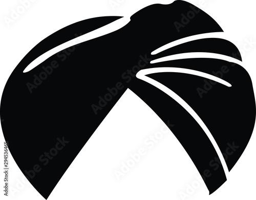 Fototapeta illustration vector icon of punjabi sardar turban