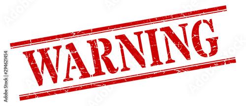 Fotografie, Obraz warning stamp. warning square grunge sign. warning