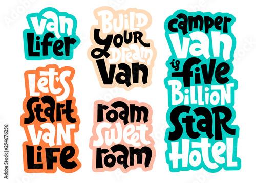 Fotografie, Tablou Van life lettering