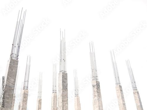 Carta da parati Building construction site Concrete pile Industrial background