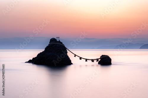 Leinwand Poster 三重県・夫婦岩の朝焼け