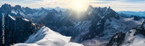 Fotografia, Obraz Panorama of Mont Blanc massif, mountain range in the Alps, France