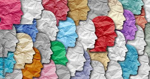 Obraz na płótnie Schizophrenia Mental Disorder