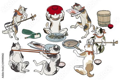 Fotografie, Obraz 猫の宴会