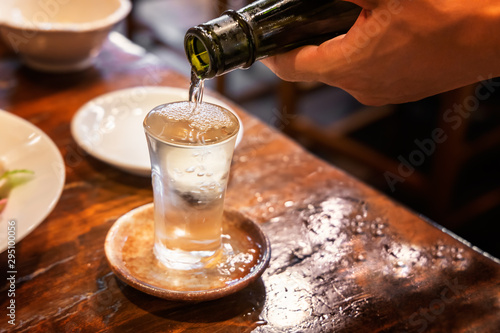 Stampa su Tela よく冷えた美味しそうな日本酒
