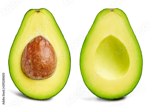 Foto Avocado collection isolated on white