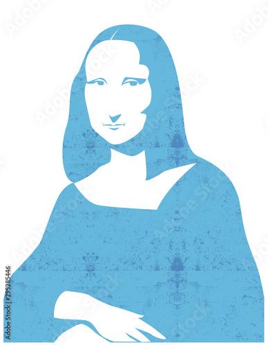Tablou Canvas Leonardo da Vinci's Mona Lisa portrait vector illustration