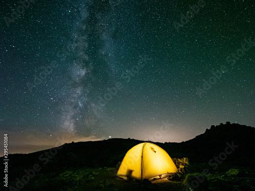 Photo 星 山 天の川 テント