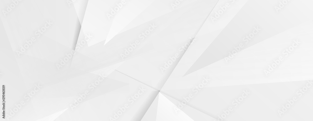 Abstract grey hi-tech polygonal corporate background. Vector stripes minimal light design <span>plik: #295463839   autor: saicle</span>