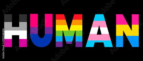 Canvas Print LGBT equality symbols
