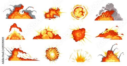Obraz na plátne Cartoon explosions