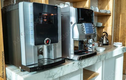 Slika na platnu coffee machine close up