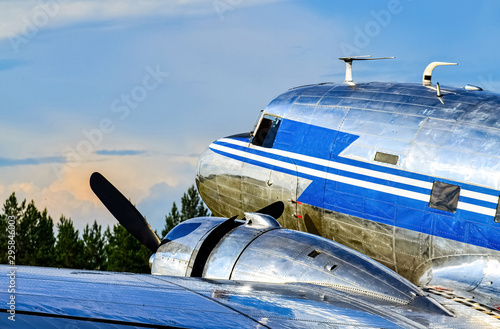 Obraz na plátně Old propeller airplane