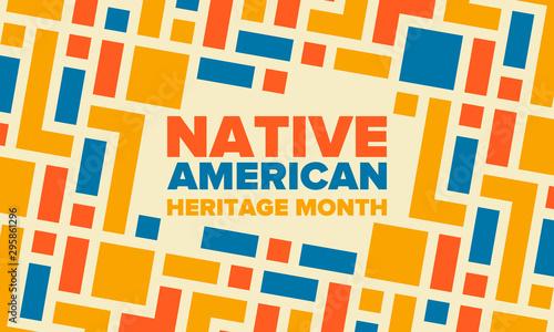 Obraz na płótnie Native American Heritage Month in November