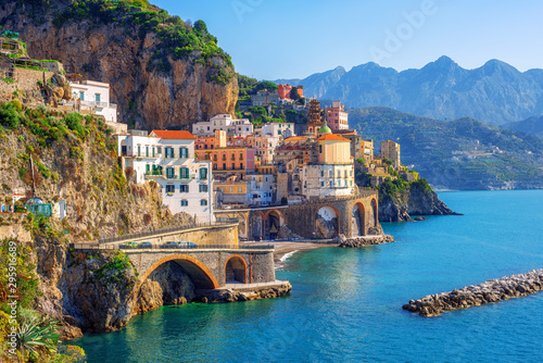 Atrani town on Amalfi coast, Sorrento, Italy