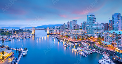 Photo Beautiful view of downtown Vancouver skyline, British Columbia, Canada