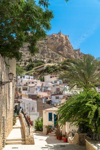 Fotografia Alicante, Comunitat Valenciana / Spain - July 29th, 2019: Santa Cruz Neighborhoo