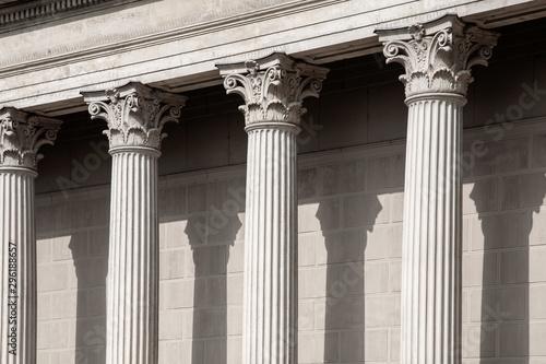 Fotografia Vintage Old Justice Courthouse Column