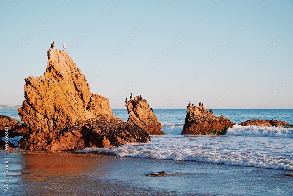 Beautiful view of Malibu rock