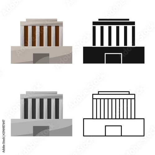 Canvas-taulu Isolated object of building and mausoleum logo