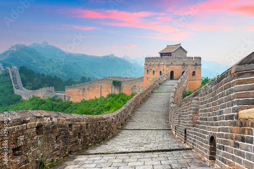 Great Wall of China at the Jinshanling section. Fototapet