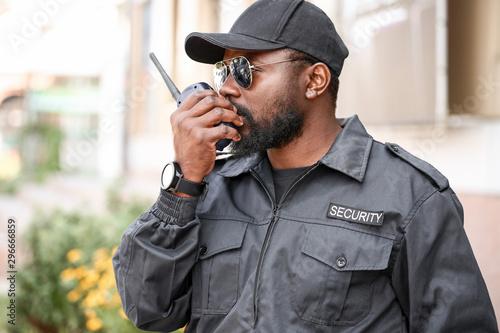 Obraz na plátně African-American security guard outdoors
