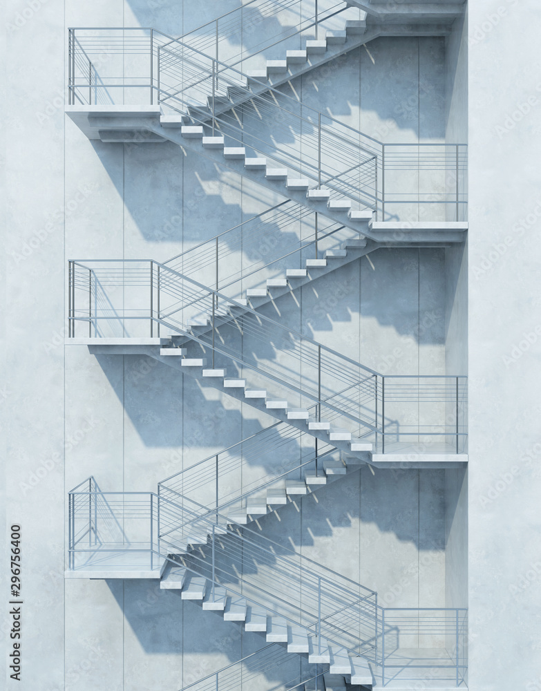 stairs leading upward, 3d rendering <span>plik: #296756400   autor: auris</span>
