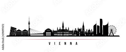 Canvas Print Vienna skyline horizontal banner