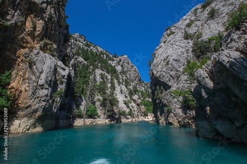 Obraz na plátně The landscape of the Green Canyon, Turkey