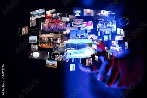 Obraz na płótnie Internet broadband and multimedia streaming entertainment