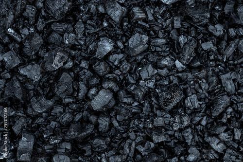 Wallpaper Mural Dark coal texture, coal mining, fossil fuels, environmental pollution