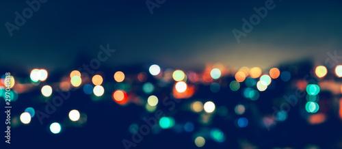 Bokeh światła miasta