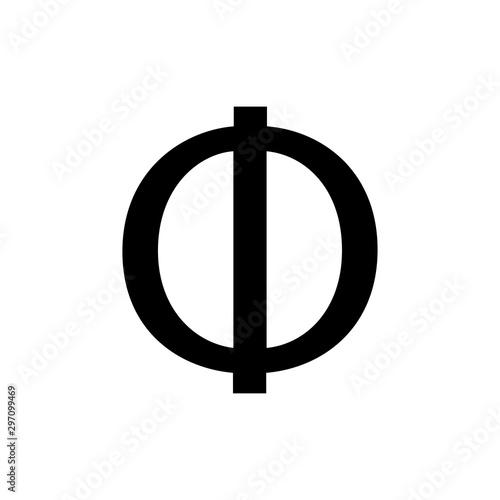 Платно greek alphabet : phi signage icon