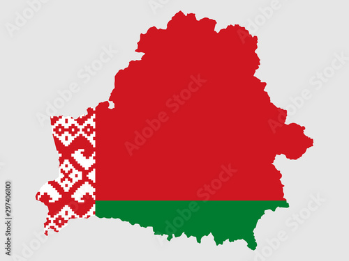 Photo Belarus Map Flag Vector illustration eps 10