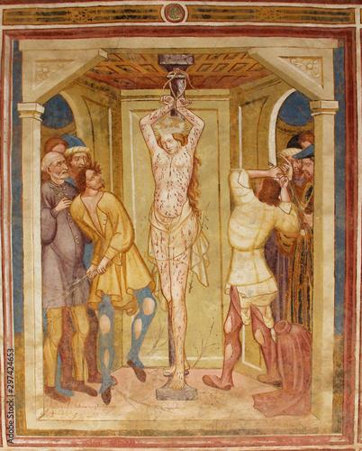 l'Imperatore Massenzio fa flagellare Caterina Fototapeta