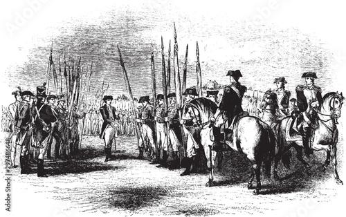 Canvastavla British Surrender,vintage illustration