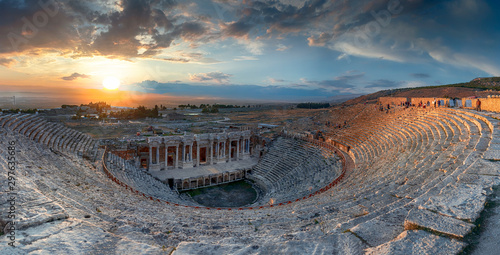 Tela Amphitheater in ancient city of Hierapolis