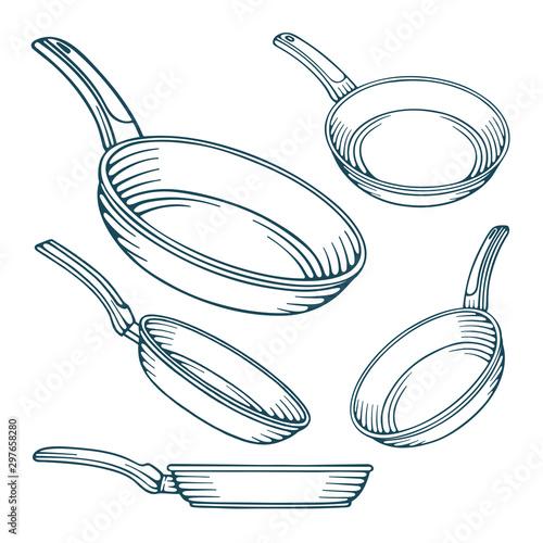 Photo Frying pan