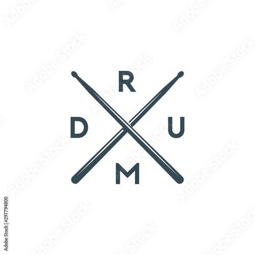 Fotografering Vector logo of drum school