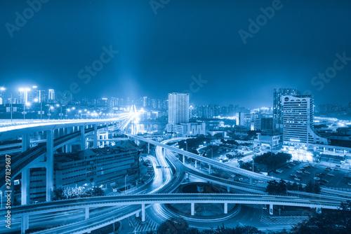 Circular overpass and modern urban architecture in Chongqing, China Fototapete