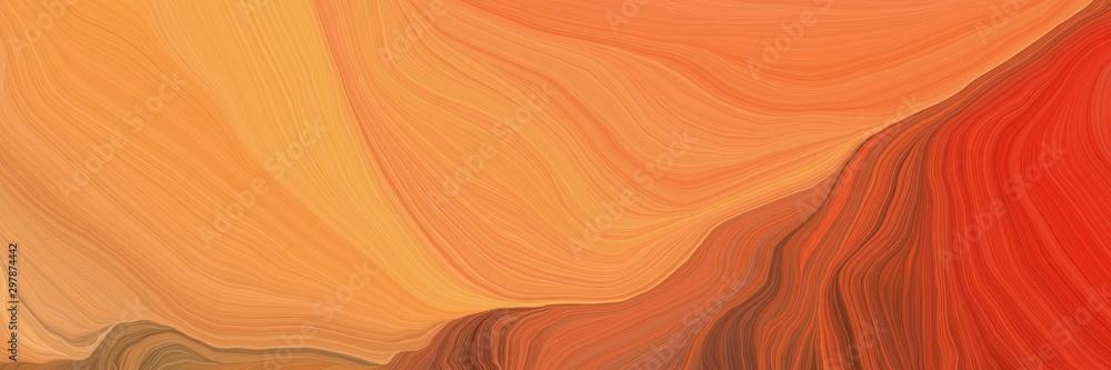 zakrzywione linie prędkości tło lub tło w kolorach koralowców, cegieł ognistych i kawy. marzycielska cyfrowa sztuka abstrakcyjna <span>plik: #297874442 | autor: Eigens</span>
