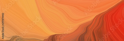 Obraz na plátne curved speed lines background or backdrop with coral, firebrick and coffee colors