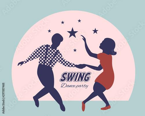 Fotografia Swing dance party poster