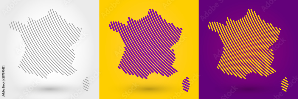 Paski mapę Francji <span>plik: #297990431   autor: mdesignstudio</span>