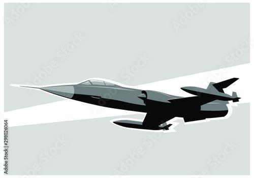 Wallpaper Mural Fighter jet in the sky
